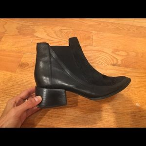 Leather and cow hide Chelsea boot